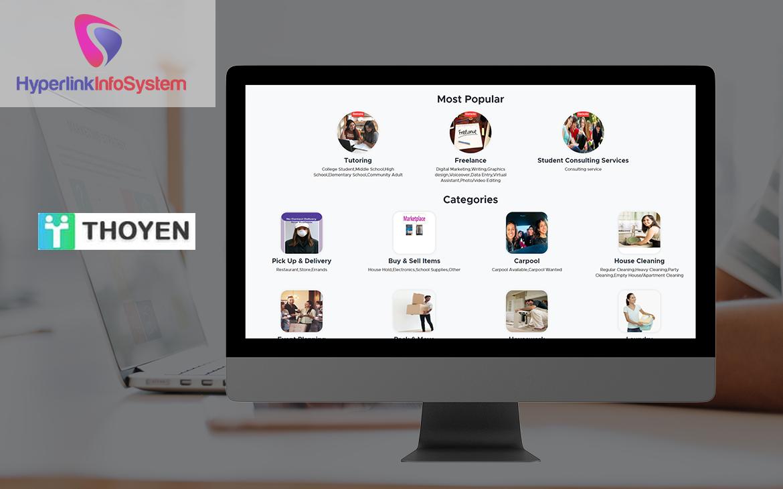 thoyen website development