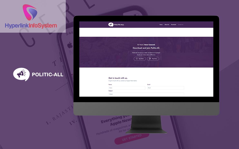 politic all website development in canada