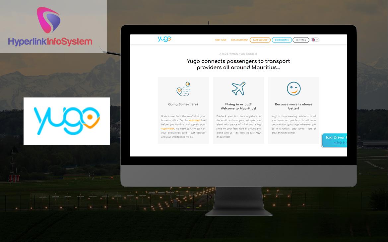 yugo taxi website development in canada