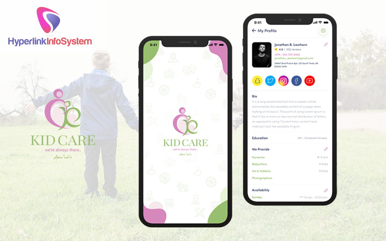 kids care app development in canada