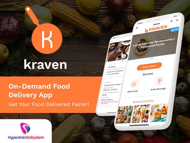 kraven on demand food delivery app