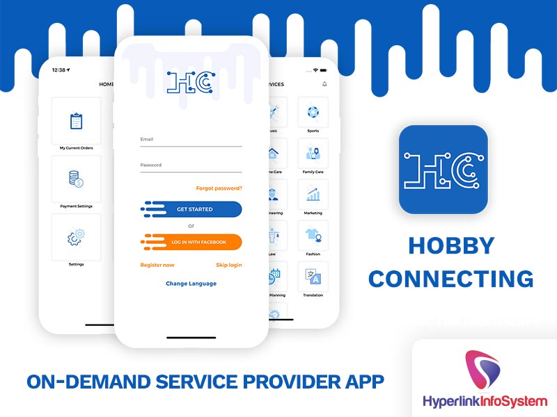 hobby connecting on demand service provider app