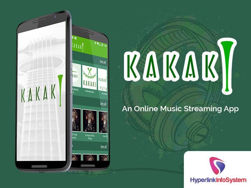 kakaki an online music streaming app