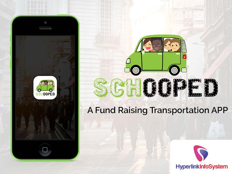 schooped a fund raising transportation app