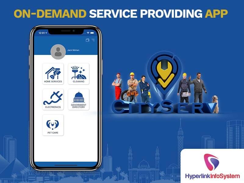 on demand service providers app