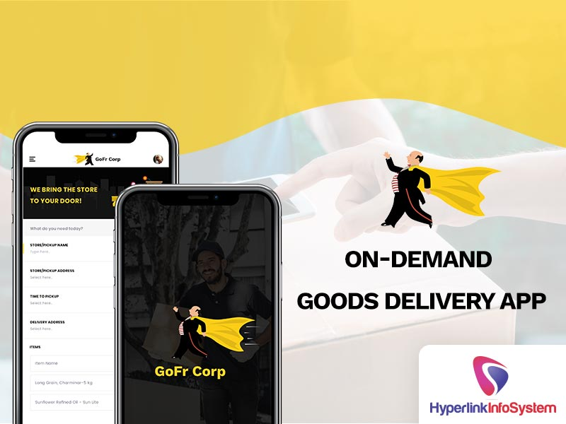 on demand goods delivery app